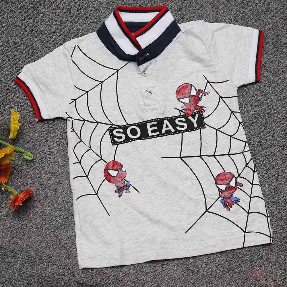 Small Spiderman Printed Baby Boy T-shirt