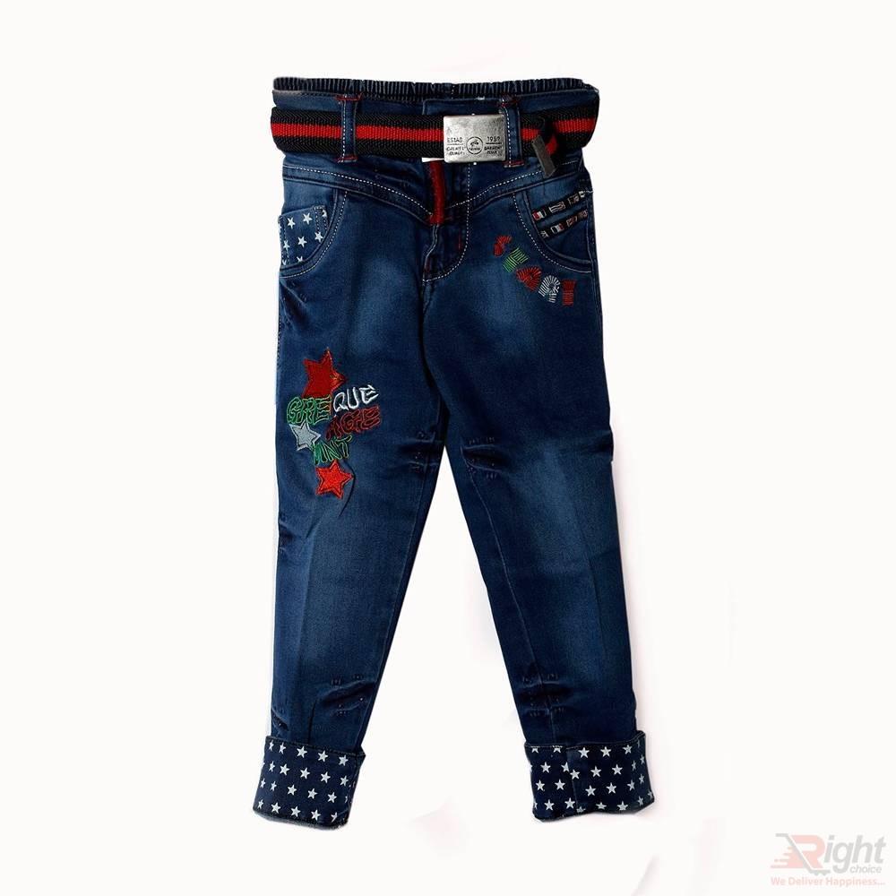 Star Printed Baby Boy Jeans Pant
