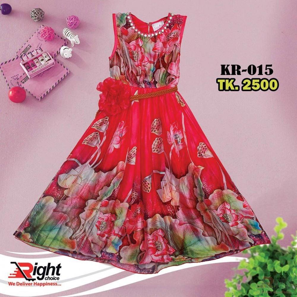 Exclusive Flower Printed Baby Girl Dress