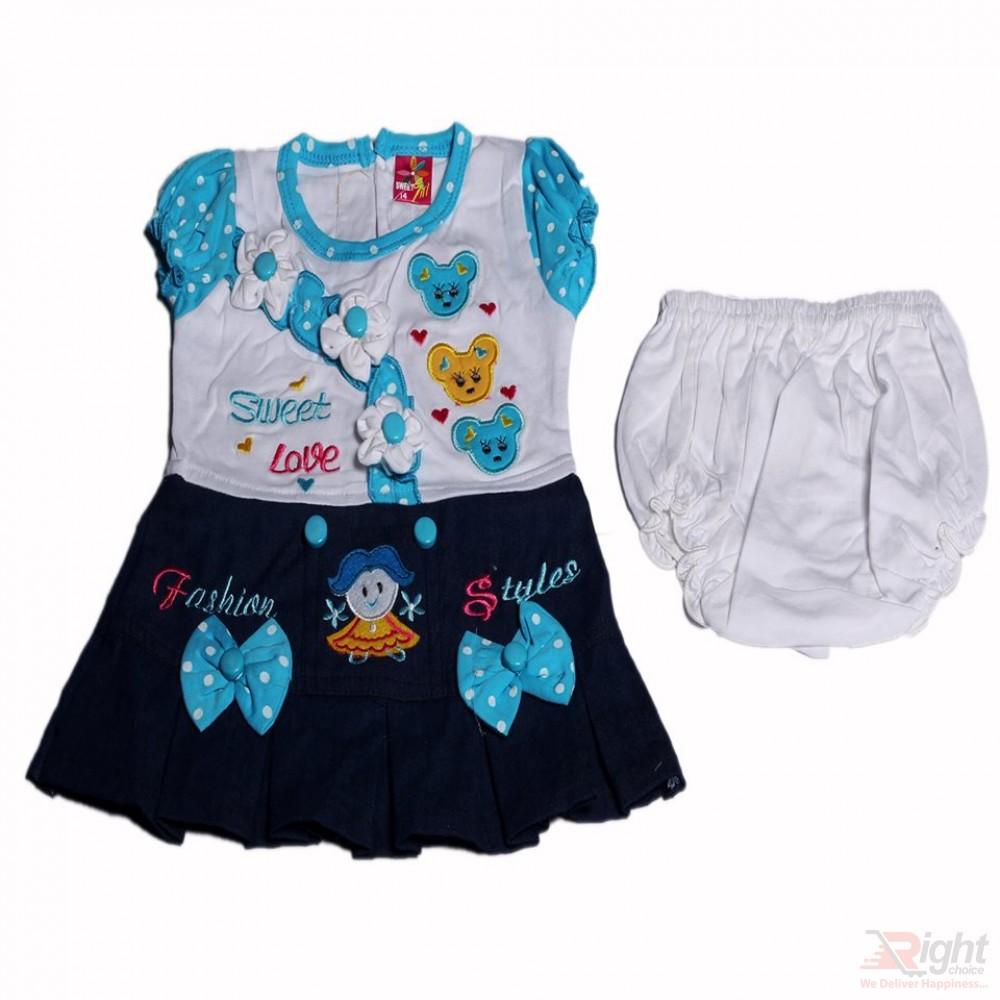 Sweet Love Baby Girls Dress with Half-Pants