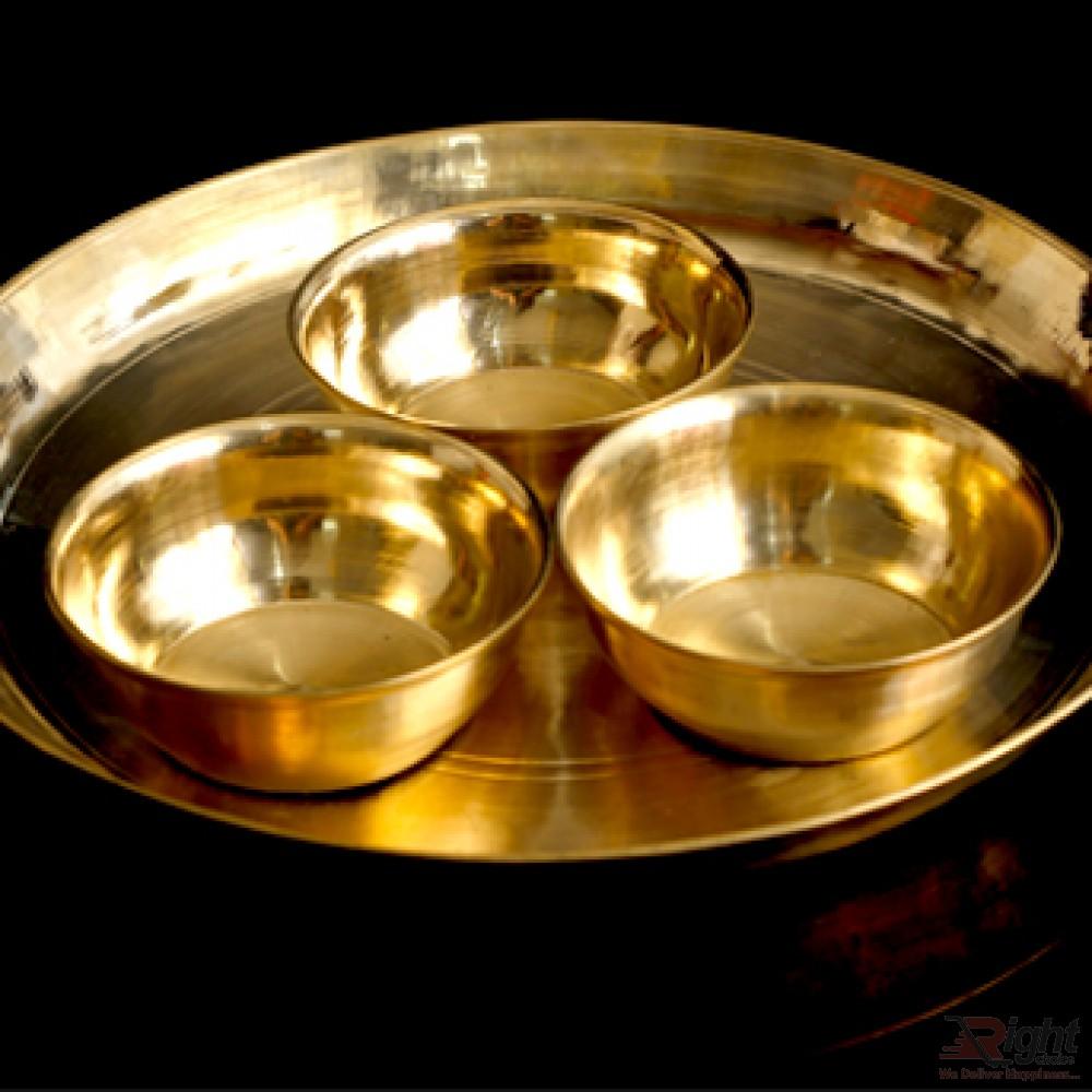 Hand Made Original Kasha Small Bati & Plate Combo Set