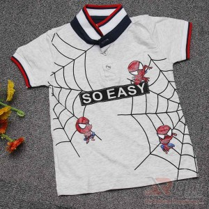 Small Spiderman Printed Baby Boy T-shirt
