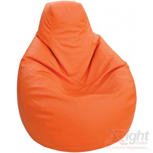 Double Extra Large Teardrop Bean Bag – Orange