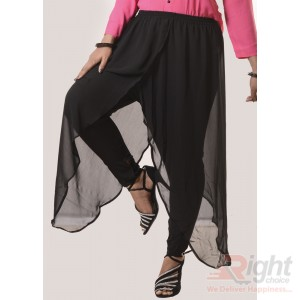 Double Georjette Black Palazzo Pants