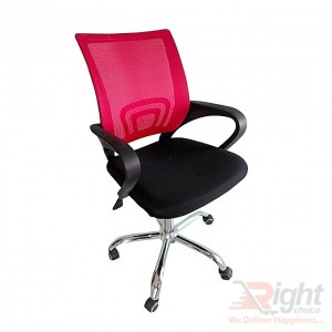 SF-318-SR Swivel Chair - Back And Red