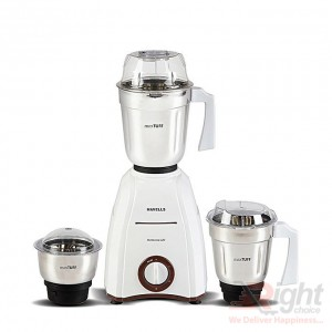 Havells Momenta 600W Mixer Grinder 3 SS Jars - White and Brown