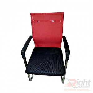 SF-085 - Fixed Chair - Black And Red