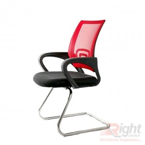 SF-403-R Fxied Chair - Back And Red