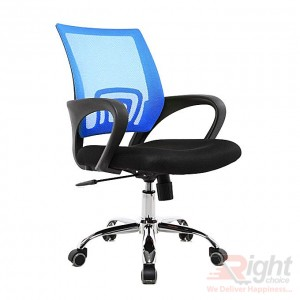 SF-73-SS Swivel Chair - Black And Blue