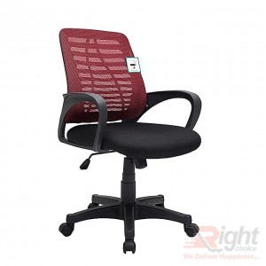 SF-67-A-TP Swivel Chair - Black and Red