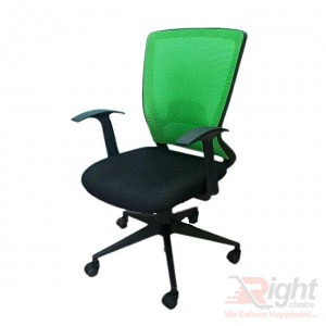 SF-50-210 TP Swivel Chair - Black and Green