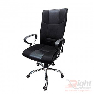 SF-63-01 SS Swivel Chair - Black
