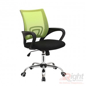 SF-66-SS Swivel Chair - Black and Green