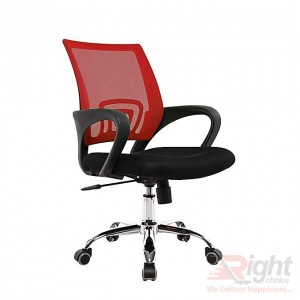 SF-68-SS Swivel Chair - Black and Red