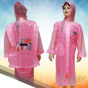 Kid`s Cartoon Design  Raincoat