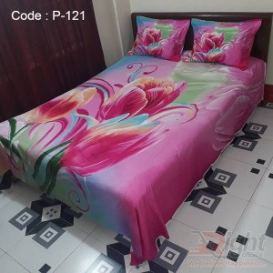 Cotton King Size Bed Sheet - Pink