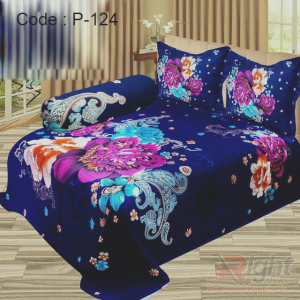 Panel Twill Bed Sheet Set - 8.5/7.5 Feet - Multi Color