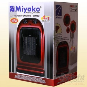 Miyako  Room Heater - Red