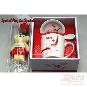 Valentine Gift Set(Special Mag & special teddy bear with rose)