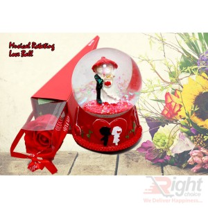 Magic Rotating love ball with Flower
