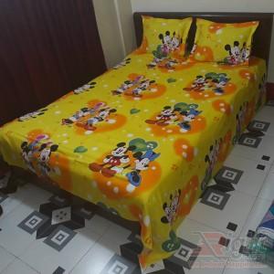 Cotton Bed Sheet Set - 7.5/8 Feet - Multi Color