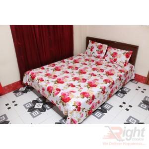 Multi-Color Cotton Double Size Bedsheet