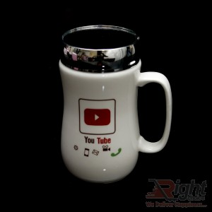YouTube Logo Printed Mirror Mug