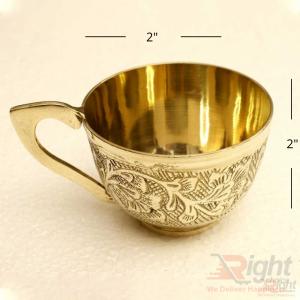 Brass cup set