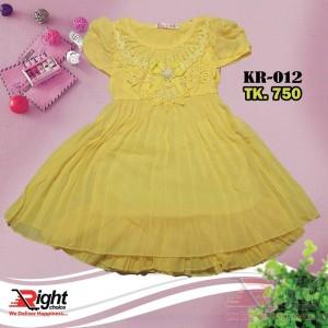 Toddler little girl Yellow dress
