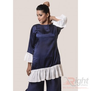 Samu Silk Navy and White Tops