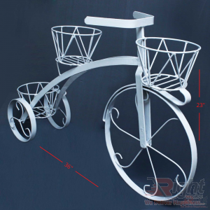 Bicycle Shape Indoor Stand with Artificial Flowers