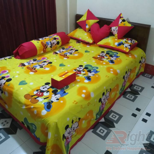 Yellow Color  Cotton Twill Bed Sheet Set