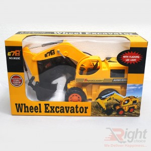 Small Wheel Excavator Toys For Baby Kids