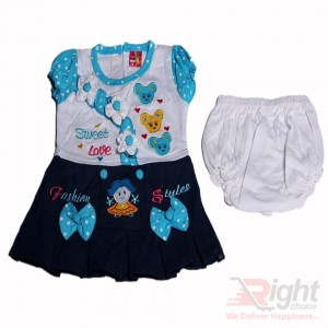Sweet Love Baby Girls Dress with Half-Pants