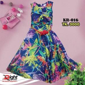 Colorful Printed Design Cotton Dress