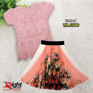 Baby Girls Skirt and Frock Set