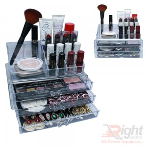 Two Pieces Acrylic Cosmetic Organizers