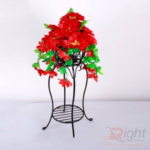 Single Tob Stand with Various Artificial Flowers
