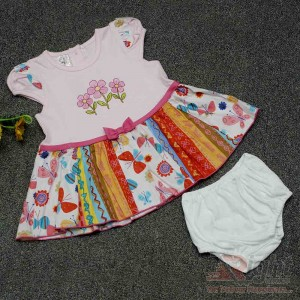 Multi Design Baby Girls Dress with Half-Pants