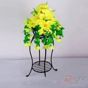 gle Tob Stand with Various Artificial Flowers