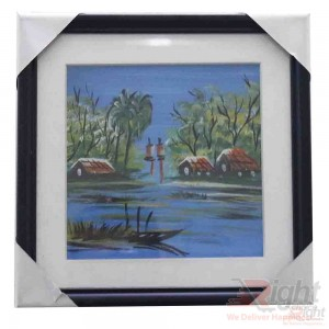 Village River water painting 3 pictures Combo Set