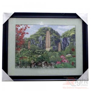 Home Decoration Machine-Made Silk Wall Art Embroidery Paintings