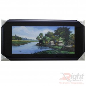 Village Canal Oil Paintings
