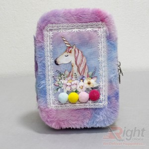 Horse Printed Pencil Bag for Girls