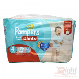 Pampers Baby-Dry Pants Size 4 (L) Weight 8-14kg