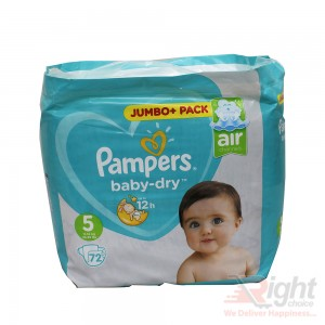 Pampers Baby-Dry (jumbo pack) Size 5 (XL) Weight (11kg-16kg)