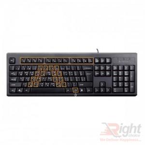 A4TECH KRS-85 Laser Engraving USB Keyboard With Bangla