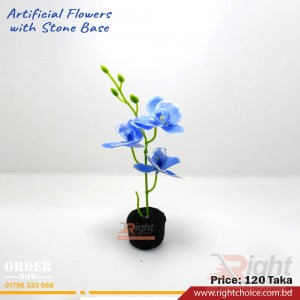 Artificial Flower With Stone Base