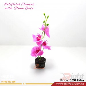 Artificial Orched Flower With Stone Base