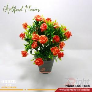 Artificial Orange Color Rose Flower